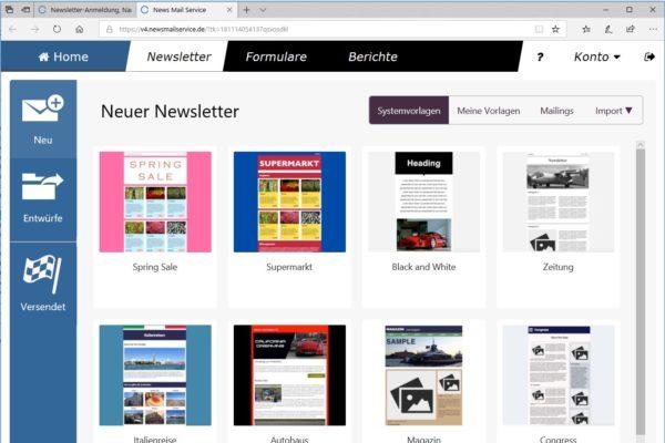cobra news mail service layout vorlagen