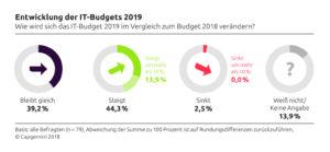 entwicklung der it budgets