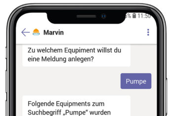 meldungsanlage mit marvin