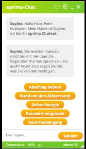 chatbot sophie von eprimo copyright eprimo